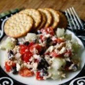Greek Salad with Feta and Tuna
