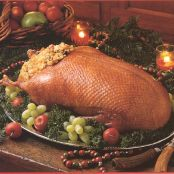Roast Goose With Apricot and Rice Stuffing