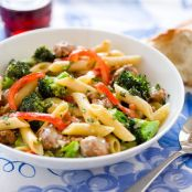 Creamy Skillet Penne with Sausage and Broccoli