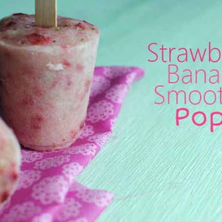 Strawberry Banana Smoothie Pops