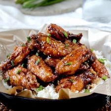 Baked Sticky General Tso's Chicken Wings