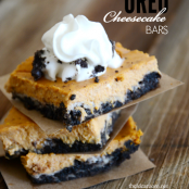 Pumpkin Oreo Cheesecake Bars