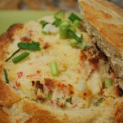 Crab Artichoke Dip in a Bread Bowl