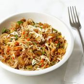 Angel Hair Pasta with Walnut-carrot Sauce