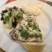 Swordfish with Lemon Parsley Sauce