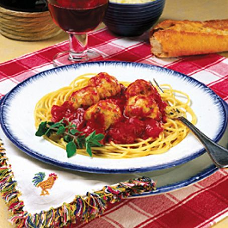 Spaghetti with Chicken Nugget Meatballs