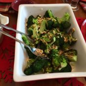 Roasted Broccoli W Lemon Garlic & Toasted Pine Nuts