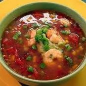 Spanish Style Shrimp Soup