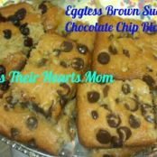 Eggless Brown Sugar Chocolate Chip Blondies