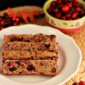 Chocolate Chip Cranberry Pecan Bread (grain free)