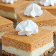 Pumpkin Pie Cheesecake Squares