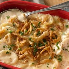 Crispy French Onion Scalloped Potato Casserole