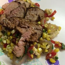 Southwestern Pork Tenderloin with Warm Corn Salad