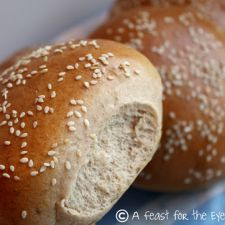 Best Whole Wheat Hamburger Buns - Made in an hour!