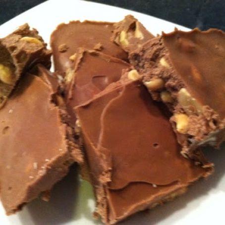 Homemade chocolate peanut candy bars