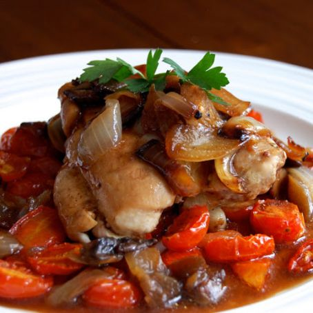 Chicken with Balsamic and Roasted Tomatoes