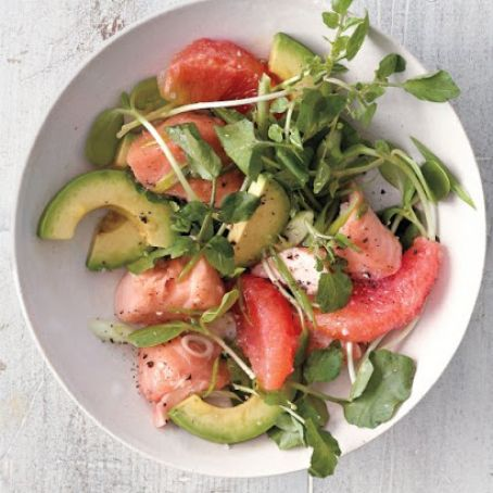 Grapefruit, Salmon and Avocado Salad