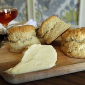 Buttermilk biscuits with burnt orange honey butter