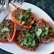 Vegan Quinoa Stuffed Peppers