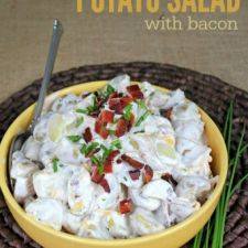 Loaded Potato Salad w/bacon (like a baked potato)