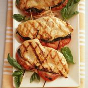 Delicious Grilled Chicken Stuffed with Basil and Tomato