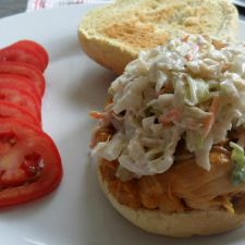 Southern Style Slow Cooker BBQ Chicken Sandwiches