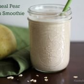 Oatmeal Pear Protein Smoothie {Vegan, Gluten Free, Top 8 Free}