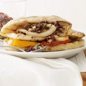 Grilled Chicken, tomato, onion Sandwich