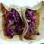 Slow Cooked Orange Pork Roast Tacos by Sandra Lee