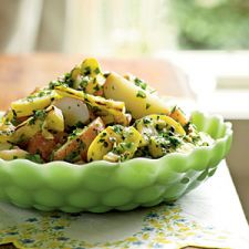 Potato Salad with Herbs & Grilled Summer Squash