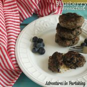Blueberry Bacon Breakfast Burgers