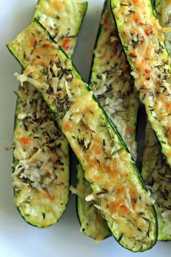 Crusty Parmesan Herb Zucchini Bites Recipe - (4.6/5) image