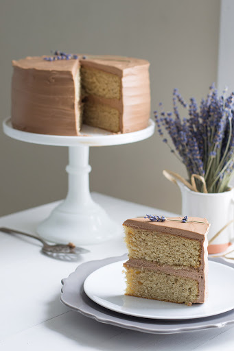 Earl Grey Cake With Chocolate Lavender Frosting Recipe 4 6 5