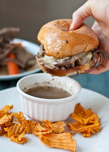 Slow Cooker Beef Brisket French Dip Sandwiches Recipe - (4.5/5)_image