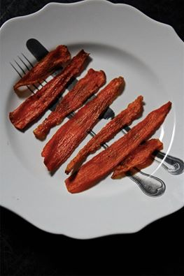 Vegan Baked Carrot Bacon Recipe - (4.5/5)_image