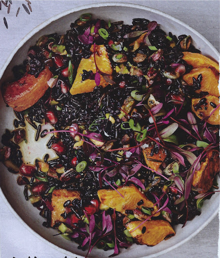Black and Wild Rice Salad with Roasted Squash Recipe - (5/5) image
