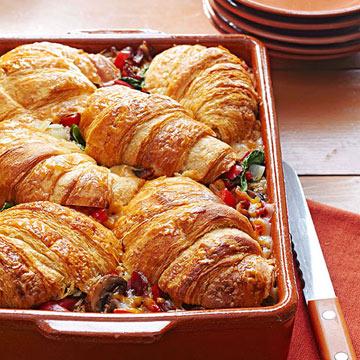 Stuffed Croissant Breakfast Casserole Recipe 4 5 5