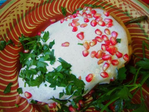 Chiles en Nogada (Picadillo Filled Poblanos with a Creamy Pecan Sauce) Recipe - (4.3/5)_image